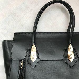 Henri Bendel Black purse with gold hardware. NWOT